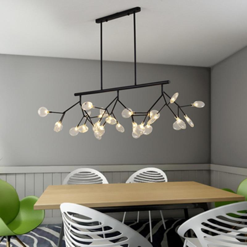 Nordic Creative LED Pendant Lights Hanging Lamp Modern Art Creative Lighting Tree Branch Dining Room Lamp Modern Pendant Light