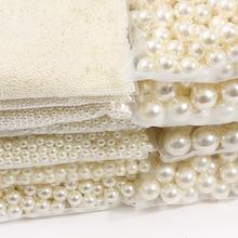 10 à 1000 pièces, perles rondes en Imitation ABS, pour la fabrication de bijoux, 2/3/4/5/6/8/10/12/14/16/18MM, sans trous, couleur ivoire