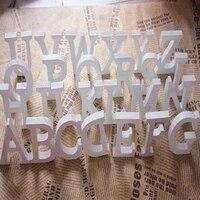 Lettres dalphabet en bois  blanches autoportantes  1 piece  accessoires a arranger soi-meme pour decoration de mariage  fetes danniversaire  nom personnalise  design QQLIFE