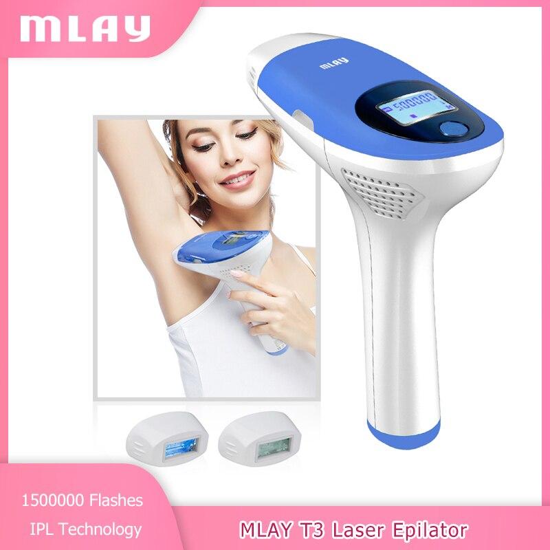 Mlay Láser Depilación IPL depiladora 3IN1 ليزر ازالة الشعر 500000 Flashes de la cara y el cuerpo de Bikini permanente depilador un láser