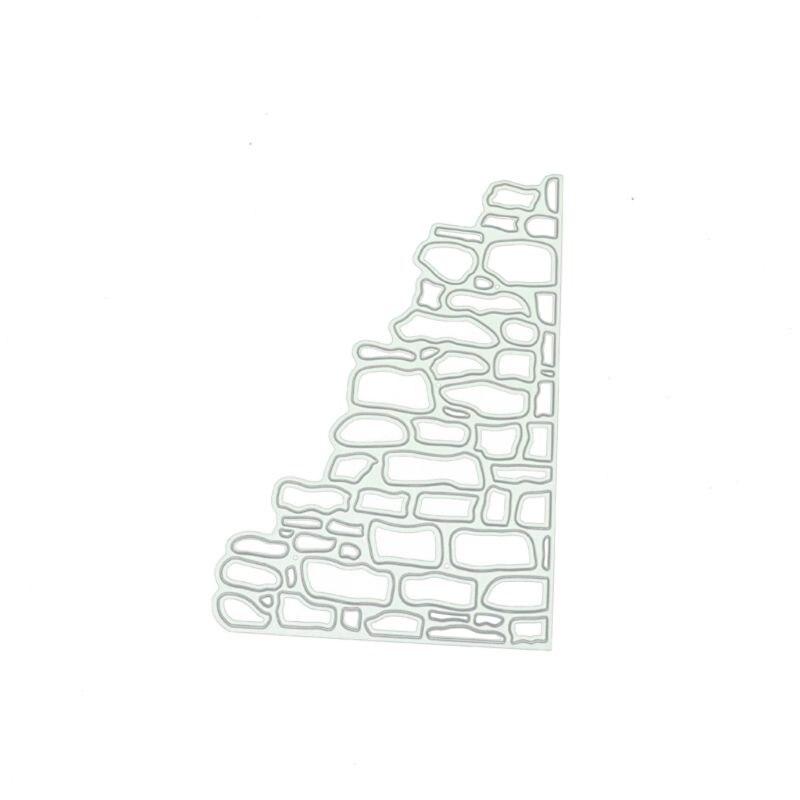 石の壁エッジ金属切削ダイスdiyスクラップブッキング紙プレス金型装飾 11UA