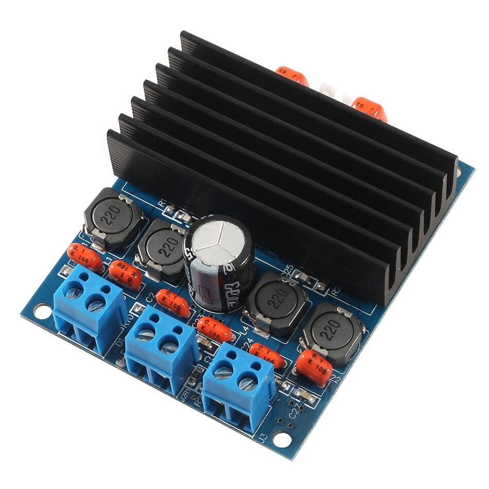 1pc TDA7492 Amplifier Boards Audio Class D High-Power Digital AMP Board Amp W/ Radiator Amplifier Module For Speaker fx138 2 x 50w tda7492 digital power audio amplifier circuit board blue silver
