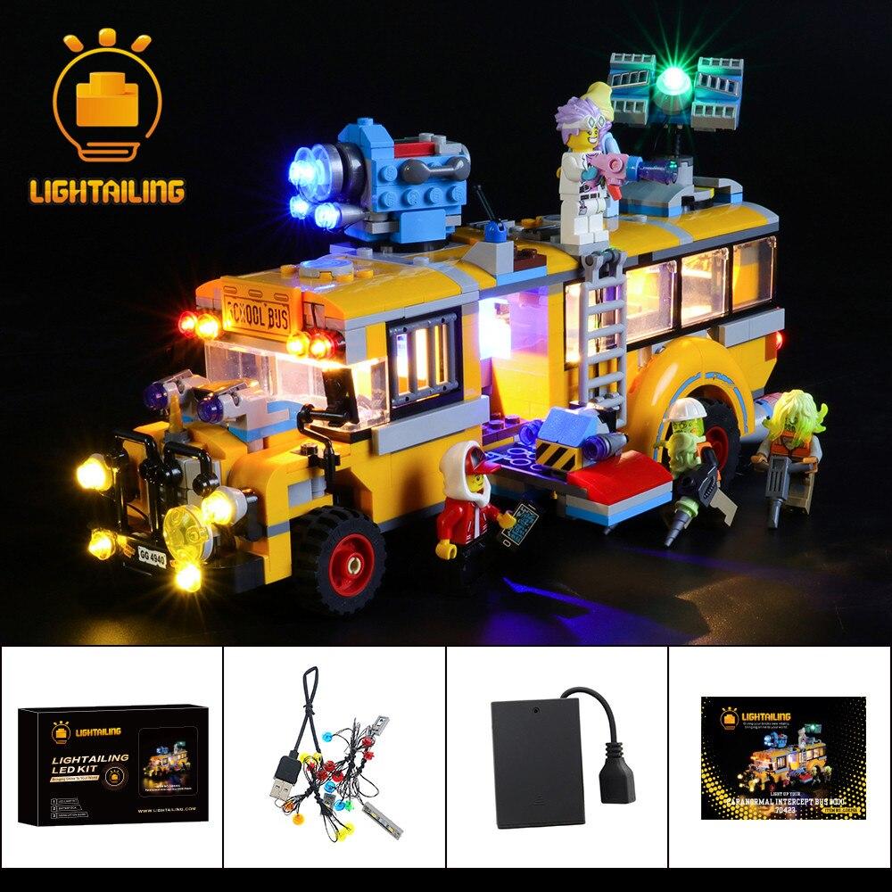 LIGHTAILING Kit de luz LED para 70423 Paranormal, autobús de intermitción 3000, juguete, bloques de construcción, solo juego de iluminación