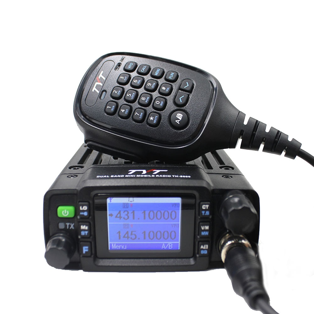 TYT TH-8600 Mini Mobile Radio 25W Dual Band 136-174MHz 400-470MHz VHF UHF Walkie Talkie Ham Radio Communciator Radio Station