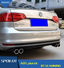 For  Volkswagen J etta Bumper Diffuser spoiler 2016-2018 For sagitar ABS Rear lip rear spoiler front Body kit Bumpers Protector