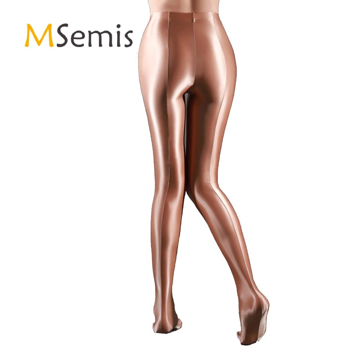Female Women's Socks Fashion Glossy Pantyhose Ballet Dance Yoga Leggings Pants Training Fitness Holographic Trousers Tights