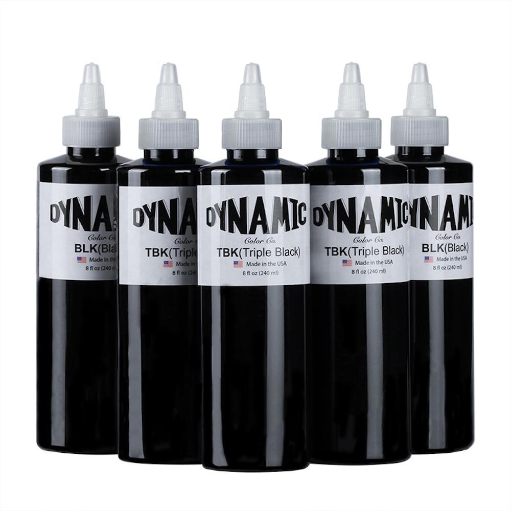 DYNAMIC Tattoo Ink Black 240ml American Brand Permanent Makeup Pigment Microblading Ink Professional Body Art Tattoo Supplies