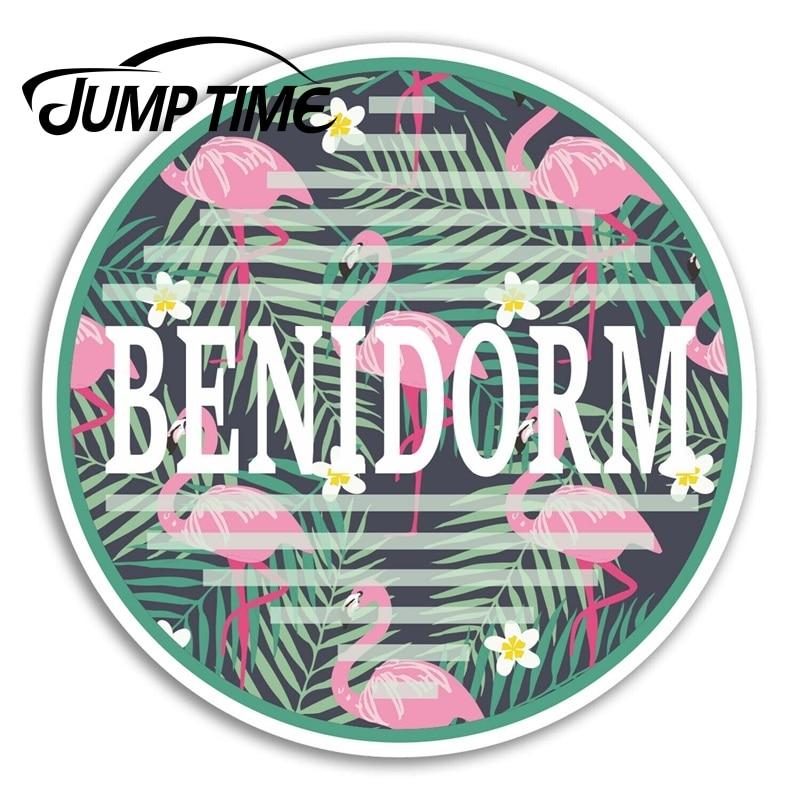 Jump Time Benidorm Vinyl Stickers Tropical Travel Sticker Laptop Luggage Decal Truck Window Car Wrap Car Accessories