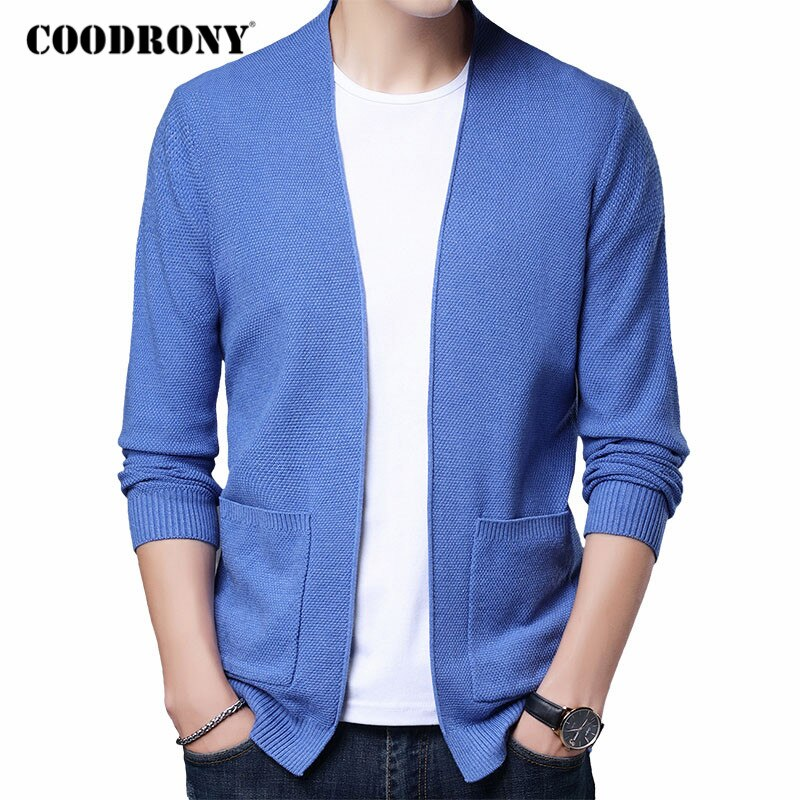 COODRONY-سترة رجالية سميكة ودافئة ، ملابس الشارع العصرية ، معطف جيب ، مجموعة خريف وشتاء 2020 ، C1159