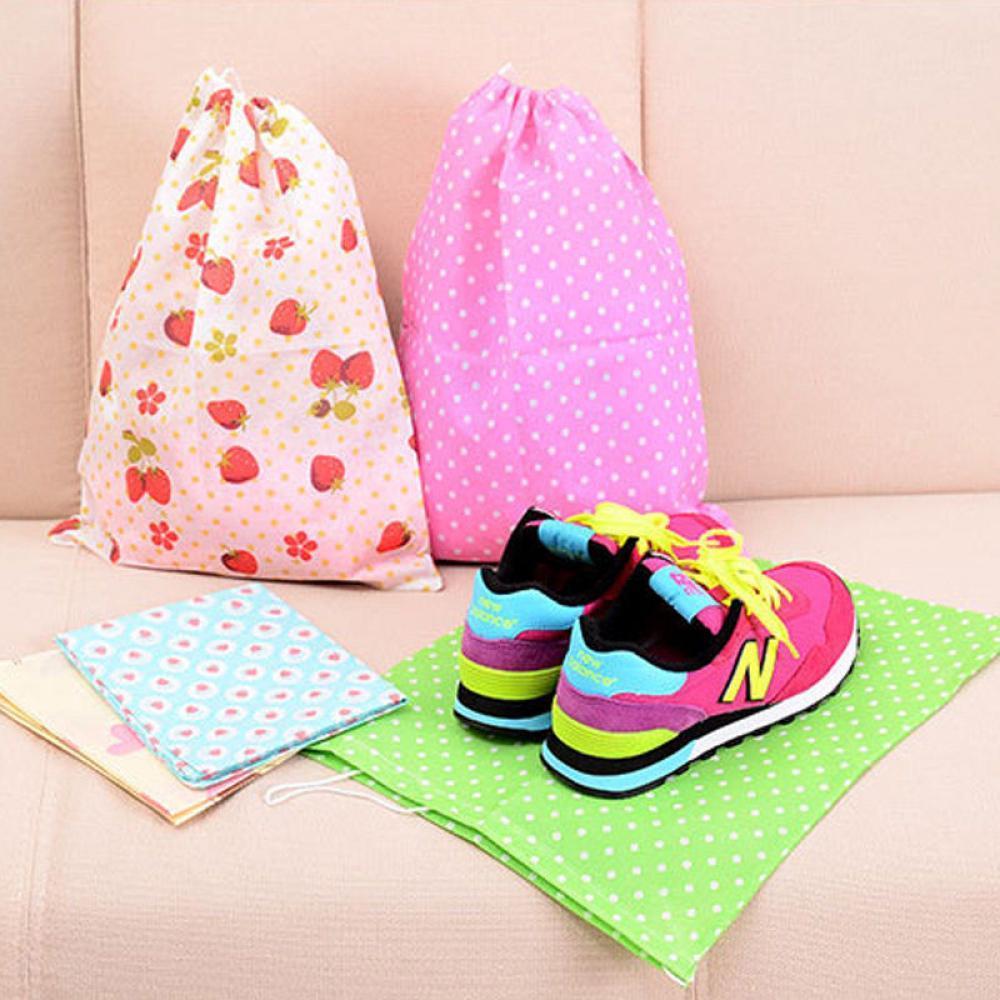 Sacs Anti-poussière portables Non tissés, stockage à cordon, sous-vêtements imperméables, pochette cosmétique, organisateur de bagages, sacs à chaussures de voyage