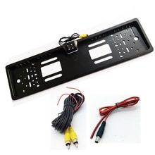 TIOODRE 자동차 EU 자동차 번호판 프레임 HD 나이트 비전 자동차 후면보기 카메라 자동 역방향 후면 카메라 4 LED 라이트 야외