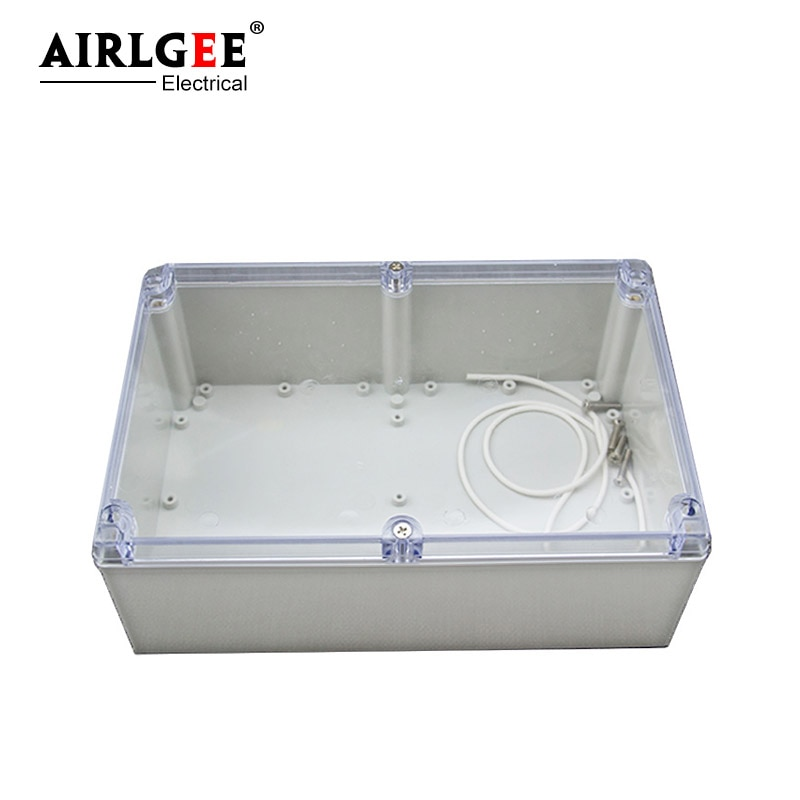 صندوق تقاطع بلاستيكي شفاف 240 × 160 × 120 مللي متر ، صندوق أدوات مقاوم للماء ، صندوق توصيل إلكتروني مدمج DIY