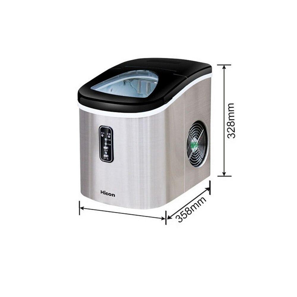 12KG Ice Maker Machine Home Small Square Ice Cube Freezing Milk Tea Shop Bottled Water Bar Desktop Intelligent Automatic Inlet enlarge