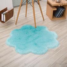 Round Circle Non Slip Floor Small Rug Living Room Bedroom Soft Carpet Fluffy Mat