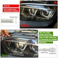 slim led strip lights turn signal waterproof replacement 2pcs 30cm drl