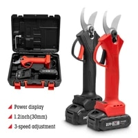 21v cordless pruner electric pruning shear with 1 or 2 lithium ion battery efficient fruit tree bonsai pruning branches cutter