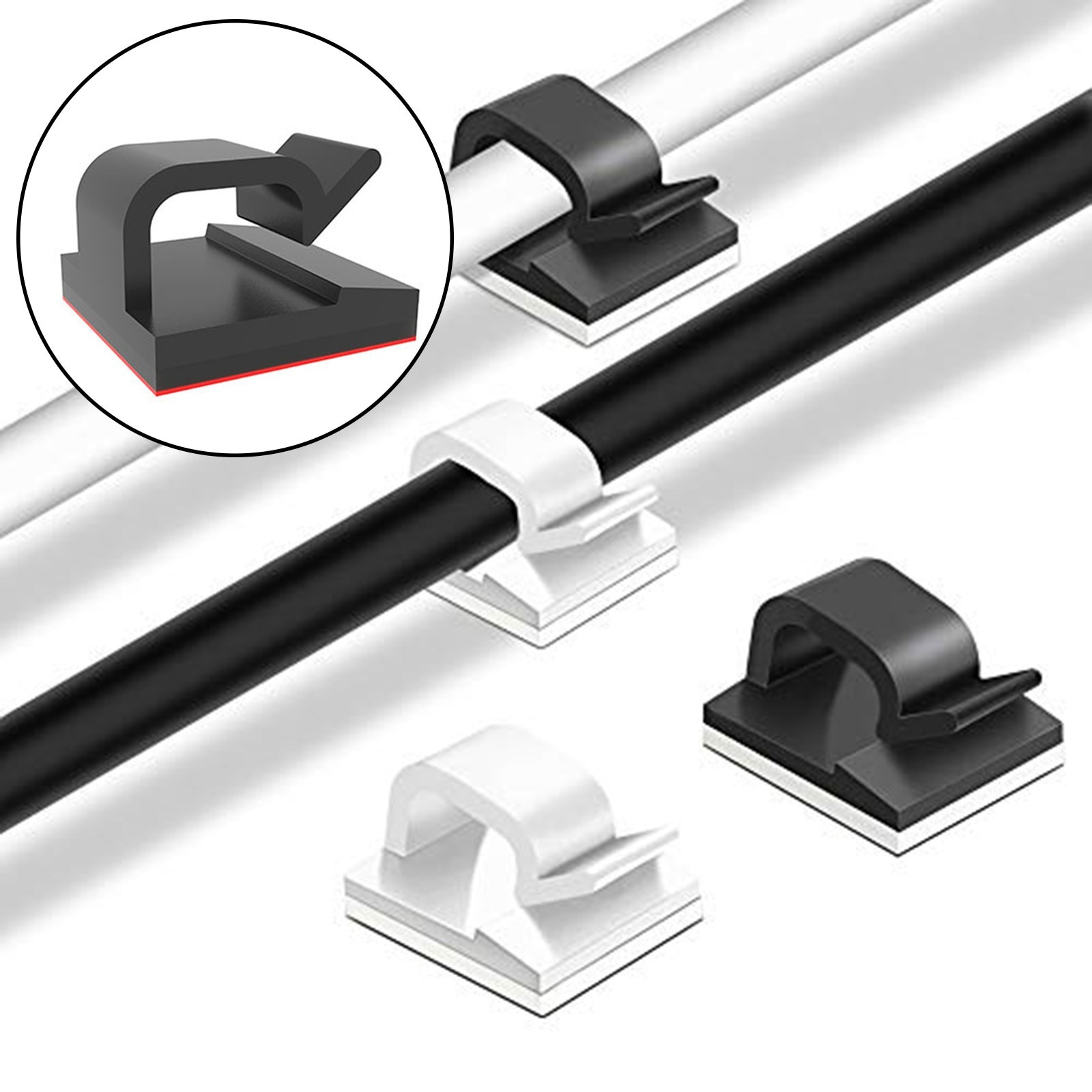 Clip De plástico para almacenamiento y clasificación De cables, Accesorios De Cocina...