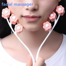 Flower Shape Facial Massager Roller Manual Face-lift Neck Slimming Relaxation Anti Wrinkle Beauty To