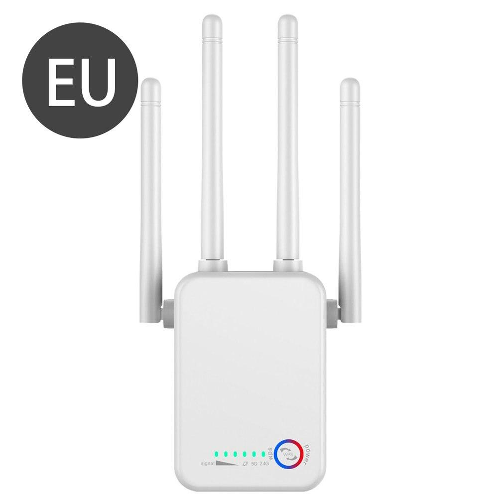 1200Mbps مايكرو جيجابت موزع إنترنت واي فاي ثنائي النطاق 5G واي فاي مكرر إشارة الداعم محول راوتر المدى موسع