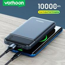 VOTHOON Power Bank 10000mAh 2 USB Portable Charging PowerBank External Battery Portable Powerbank Fo