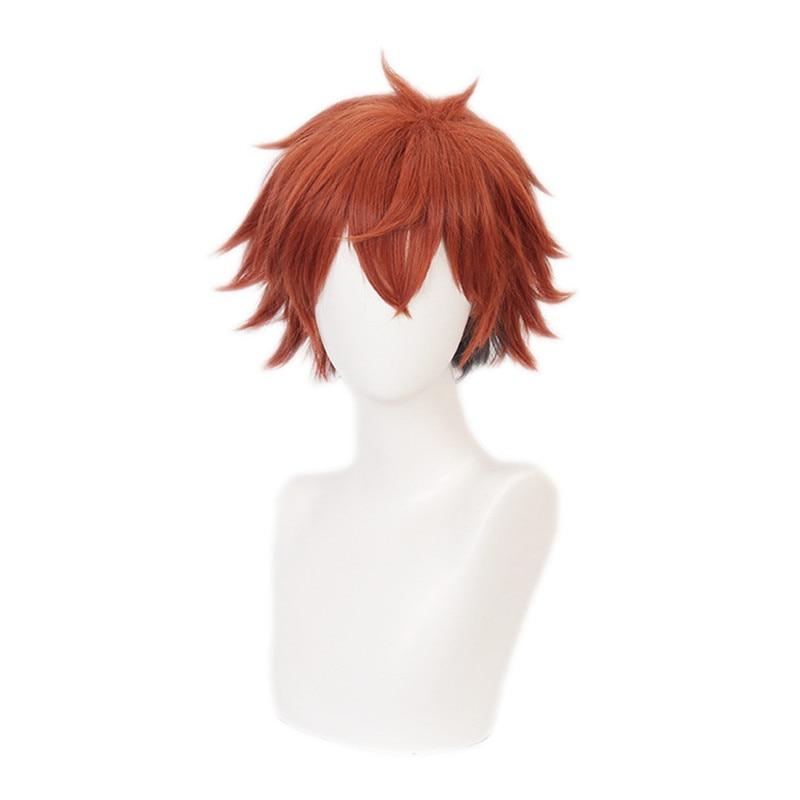 Ace-peluca Trappola trenzada Wonderland para hombre, Cosplay corto, naranja, Cosplay, Anime, resistente...
