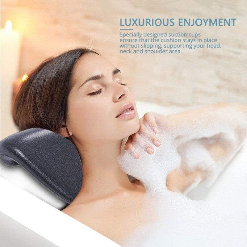 Bath Pillow Spa Pillow Luxury Comfortable Soft Bath Cushion Headrest Neck Support Pillow Soft Spa Neck Bathtub Cushion Adult