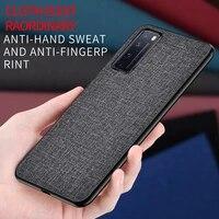 phone cover for huawei nova 5t 6 se 2 lite 3 3i 3e 4 4e 5 5i 7i 7 pro se case luxury fabric matte soft silicone hard back cases