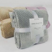 Textiles para el hogar 200x230cm tela polar de lana colchas rosadas manta gruesa de forro polar para sofá