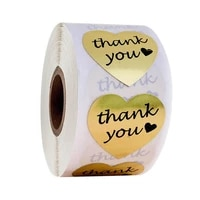 1 inch round gold foil thank you for your purchase stickers 500 labels per roll for stationery home office 1 5 boosted