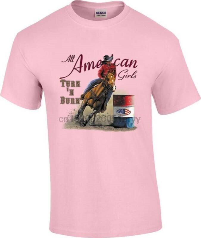 A N Burn carreras de barril Racer Rodeo caballo vaquera camiseta