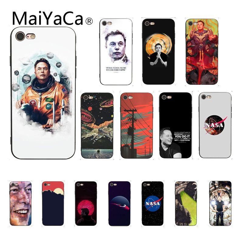 Maiyaca Elon Musk alienígena de silicona suave funda de teléfono TPU para iPhone 8 7 6 6S Plus X XS X MAX 5 5S SE XR 10 Fundas Capa