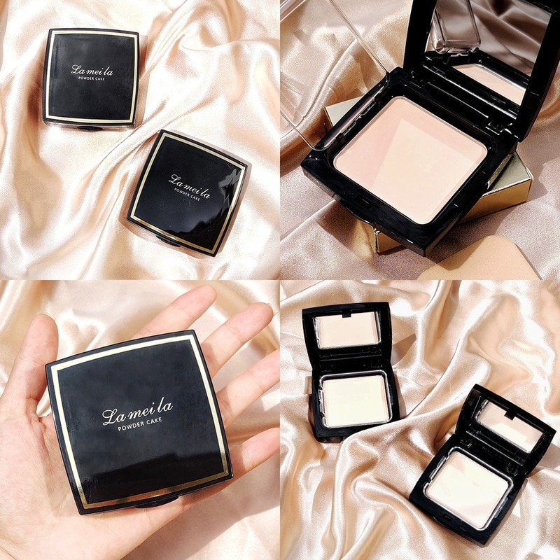 Natural Face Powder Mineral Foundations Oil-control Brighten Concealer Whitening Make Up Pressed Powder With Puff недорого
