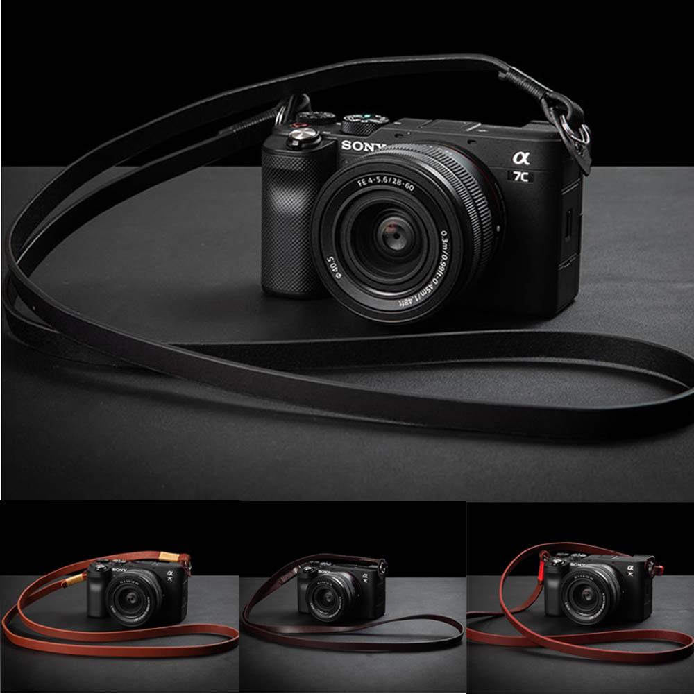 Cuero correa de cámara para hombro cinturón para Sony Alpha 7C A7C...