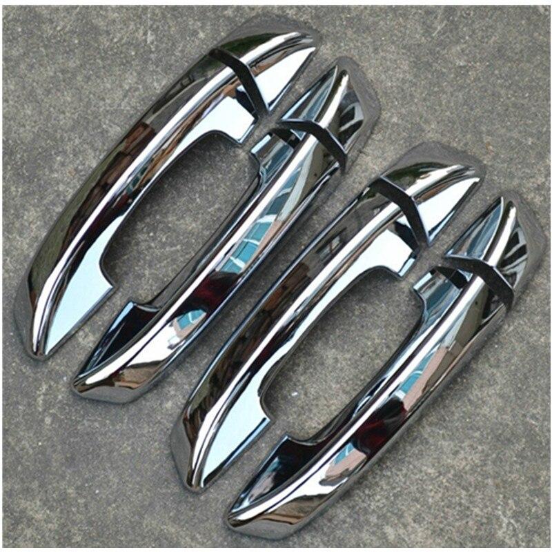 ABS cubierta cromada de manija de puerta tapa de pomo de la puerta lateral recorte para 2006-2011 Volkswagen Passat B6