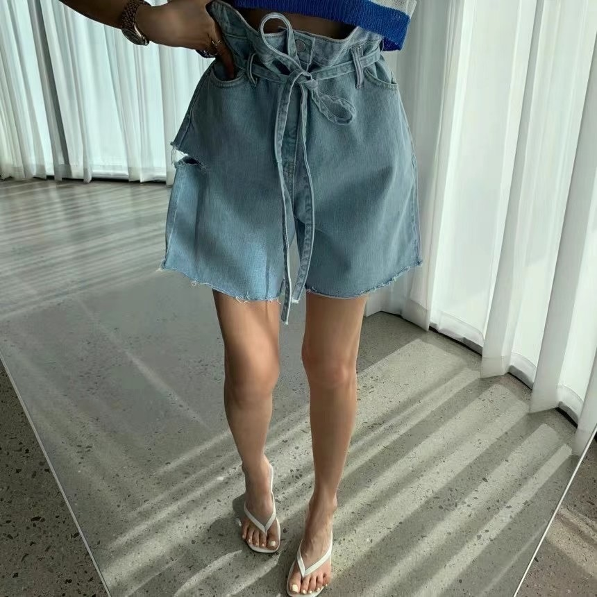 Jean Shorts for Women Denim Korean Style New Women's Clothing Summer Thin Leisure Loose Jeans  Woman Jeans