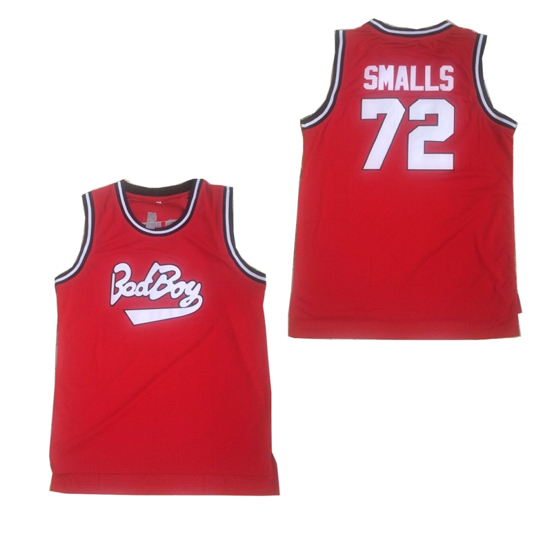 BG-camisetas de baloncesto bad boy 72, ropa deportiva bordada para exteriores con costura, camisetas de la película de Hip-hop RED2020 para verano