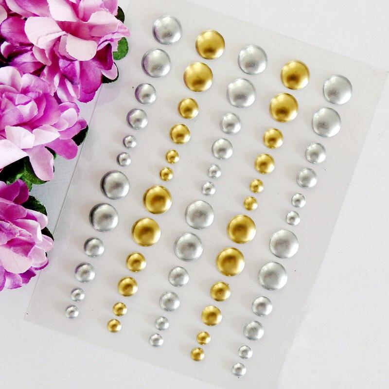 Regadera de lunares dorados y plateados, adhesivo esmaltado de resina con forma de punto para Scrapbooking, artesanías DIY, hacer tarjetas de decoración