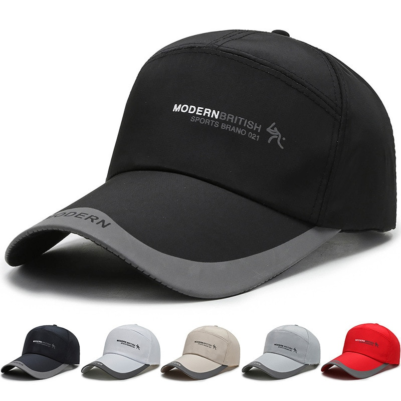 Hat Male Spring and Autumn Summer Printed Baseball Cap Outdoor Sports Sunscreen Fishing Cap Mountaineering Cap Riding Cap outdoor cap reflective baseball hat night running and riding safety