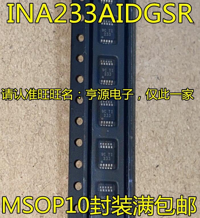 شحن مجاني INA233 INA233AIDGSR 233 MSOP10 5 قطعة/الوحدة