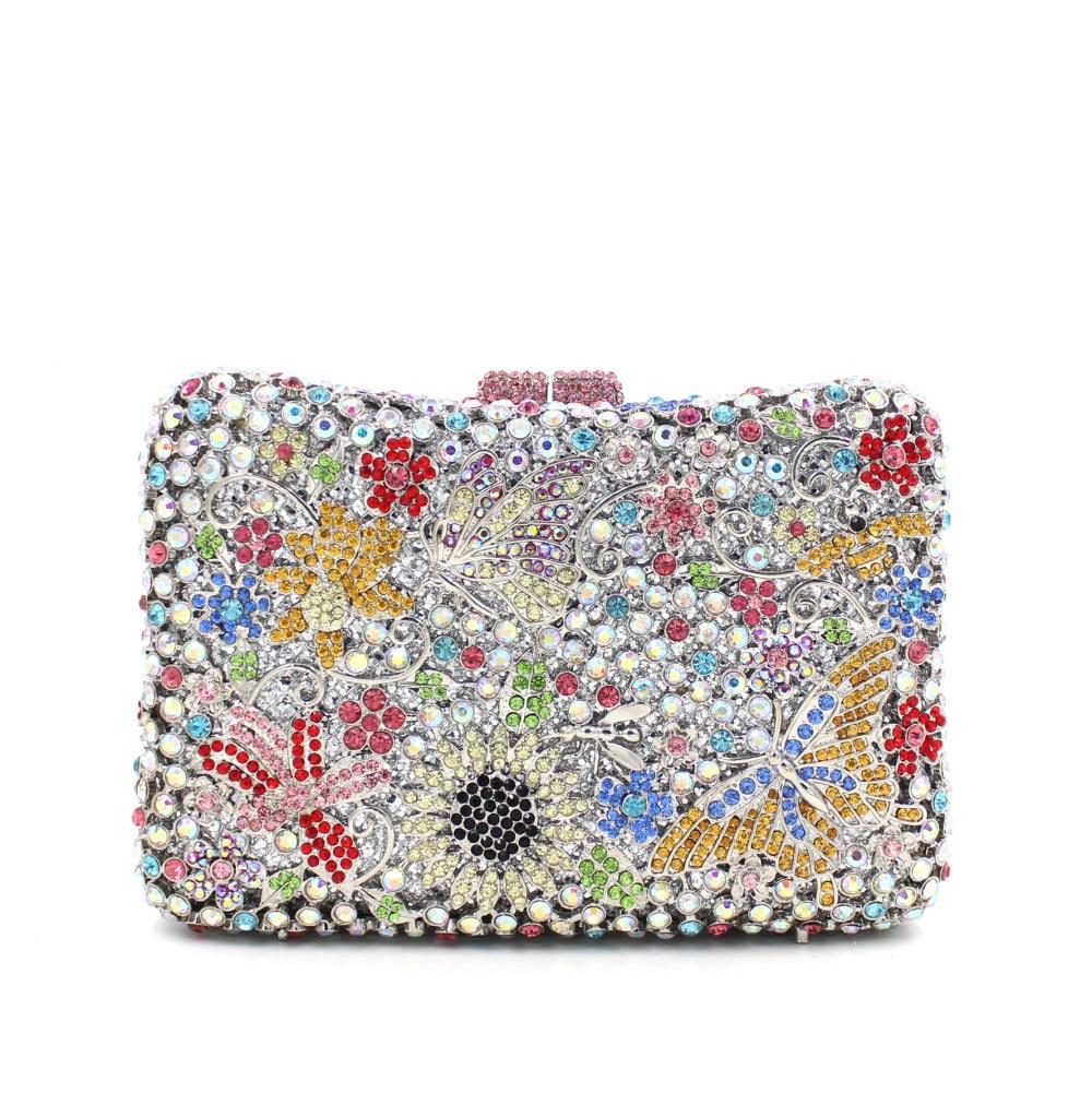 حقيبة يد نسائية من الكريستال ، حقيبة يد ، حقيبة كتف ، رائعة ، لحفلات الزفاف ، بسلسلة