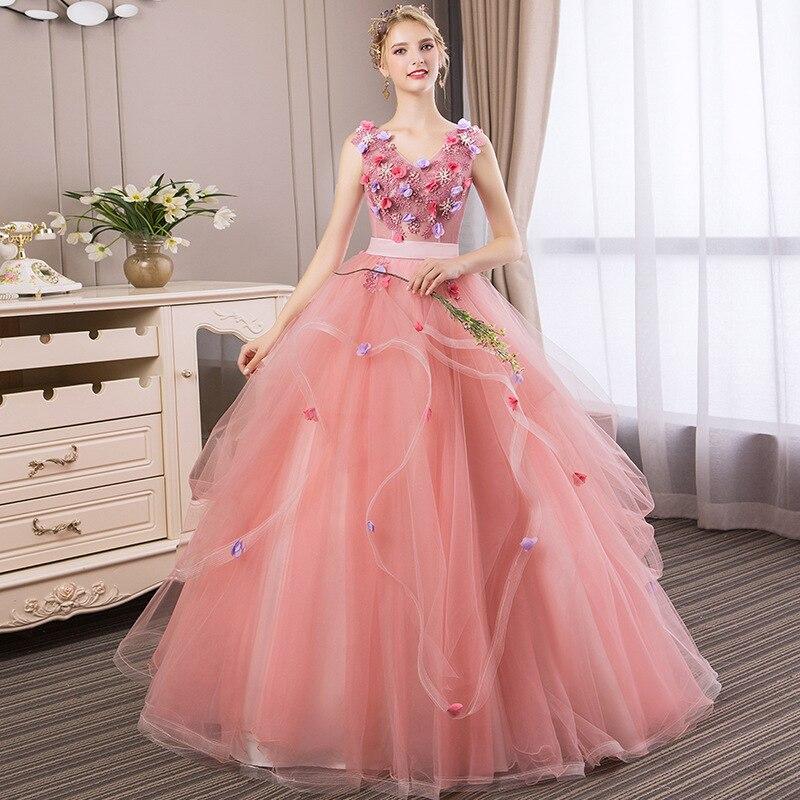 Розовые пышные платья для девочек, Robe De Bal Vestidos De Quinseanera 2020, милые 16 платьев, Robe Bouffante Vestidos Para 15 Anos
