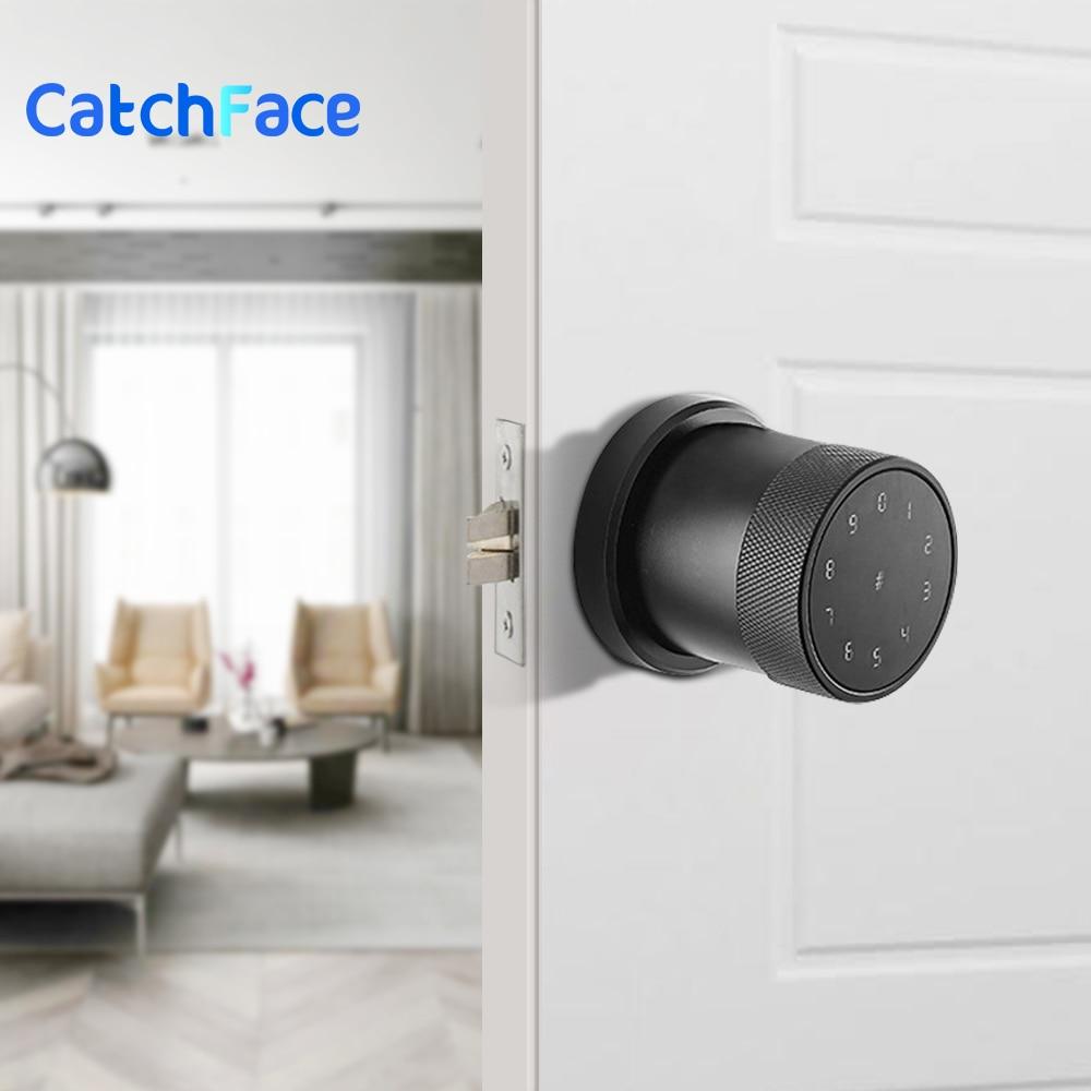 Get Upgrade Electric Smart Lock  Digital Keypad Smart Door Lock  Newest Waterproof App Password RIFD Card Door Lock Home Security