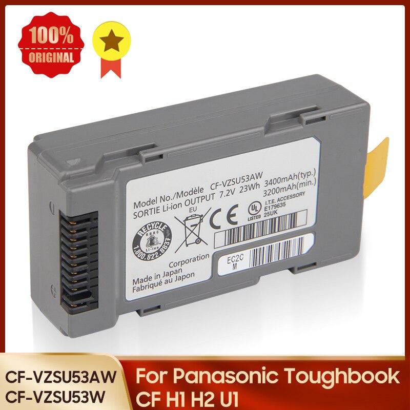 100% Оригинальный Батарея CF-VZSU53AW CF-VZSU53W для цифрового фотоаппарата Panasonic Toughbook CF H1 H2 U1 Замена Батарея 3400 мА-ч