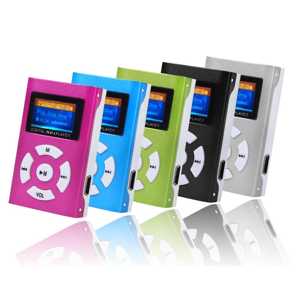 Hifi USB Mini MP3 Musik Player LCD Screen Unterstützung 32GB Micro SD TF Karte Sport Mode 2019 Marke Neue stil Rechargeab