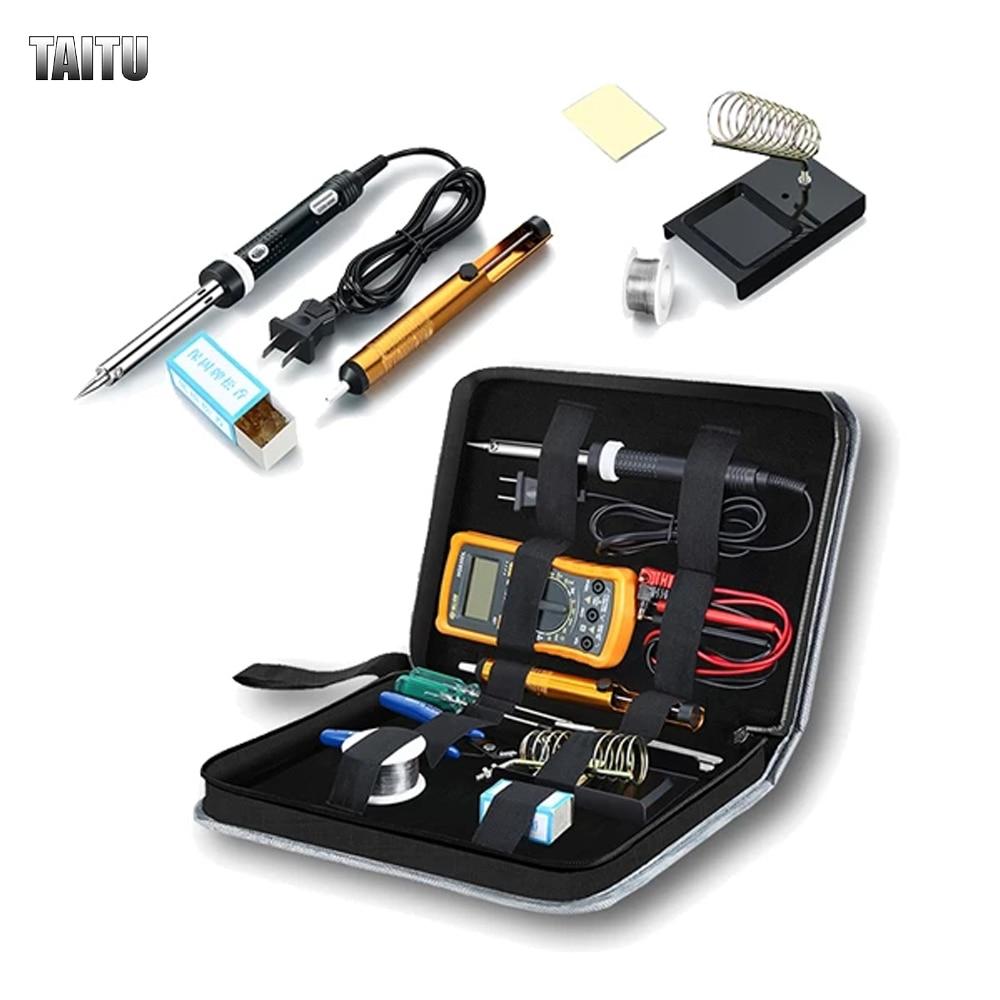 TAITU Electric Soldering Irons Kit Solder Pen Welding Gun With Tin Soder Wire Fast Heating Welding Repair Tools