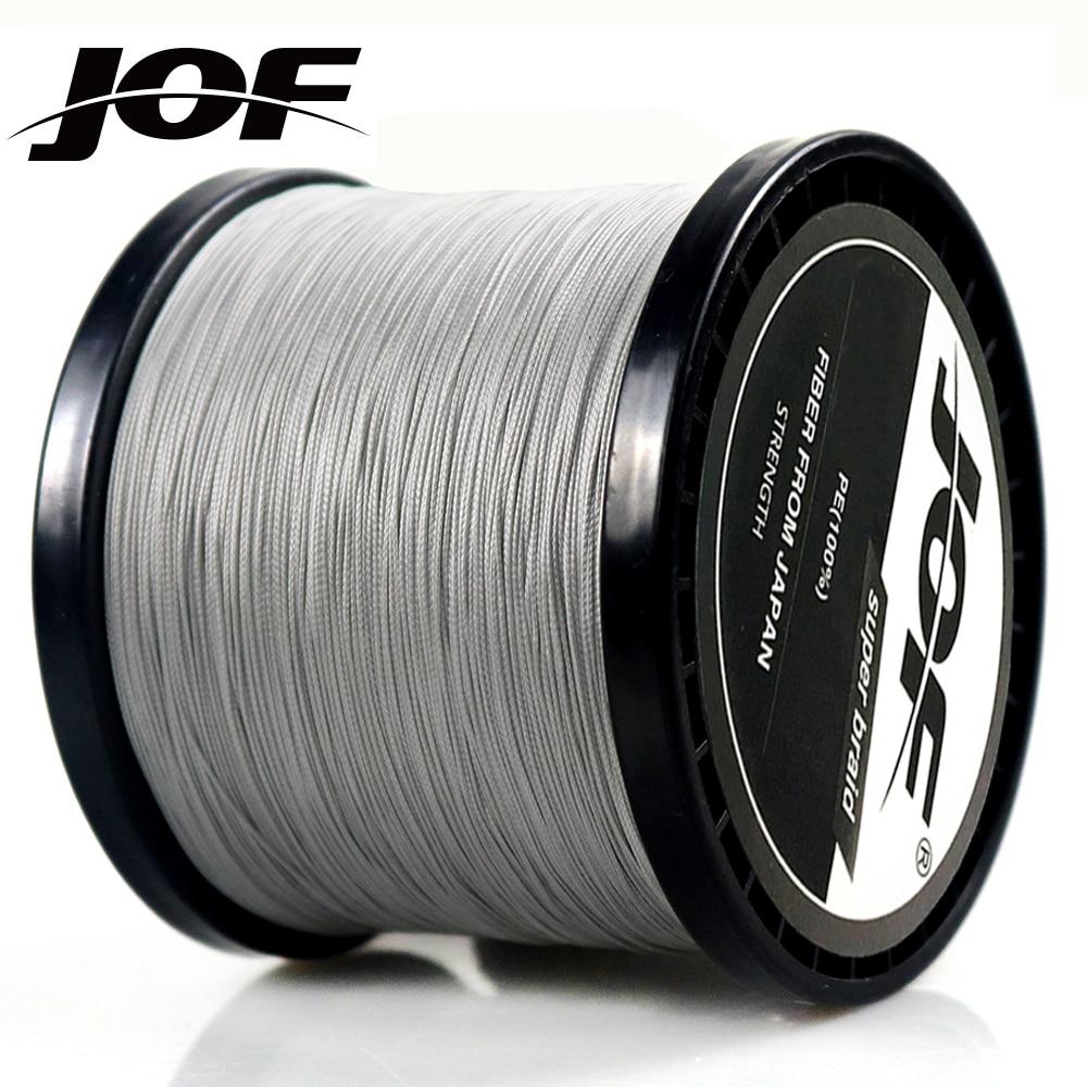 JOF 300M 500M 1000M 4 hebras 8 hebras PE trenzado línea de pesca multifilamento línea de pesca 4 colores