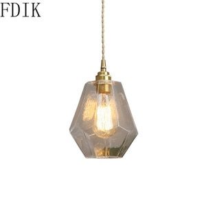Modern Glass Pendant Lamp Led Hanging Lights for Bedroom Kitchen Bar Coffee Nordic Indoor Decor Luminaire Suspension Fixture E27