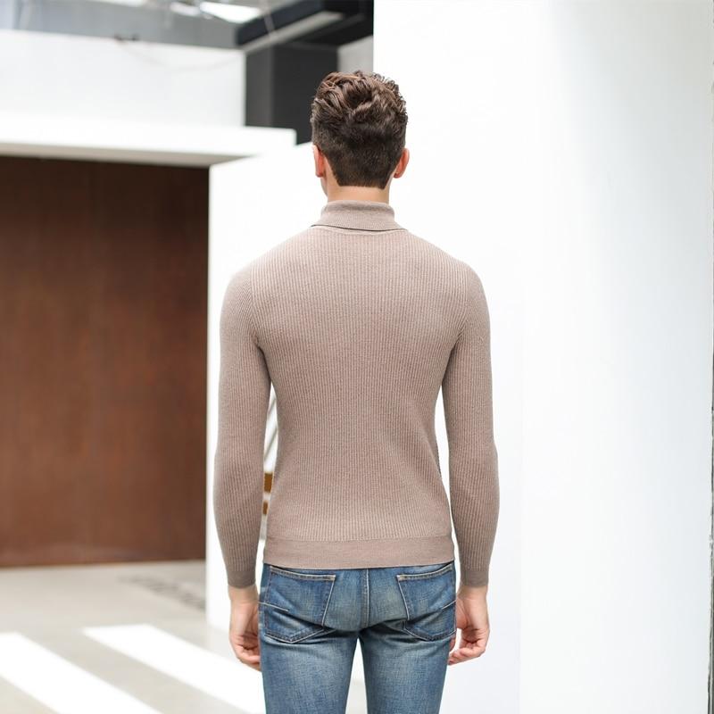 UCAK Brand Turtleneck Sweaters Men Clothing Pull Homme Streetwear Warm Sweater Men Clothes 2020 Winter Fashion Trend Tops U3179