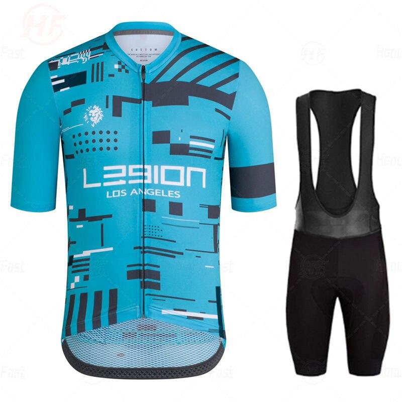 LEGION de LOS ANGELES verano Ciclismo Jersey pantalones cortos conjunto transpirable MTB Ciclismo Ropa deportiva Raphaful