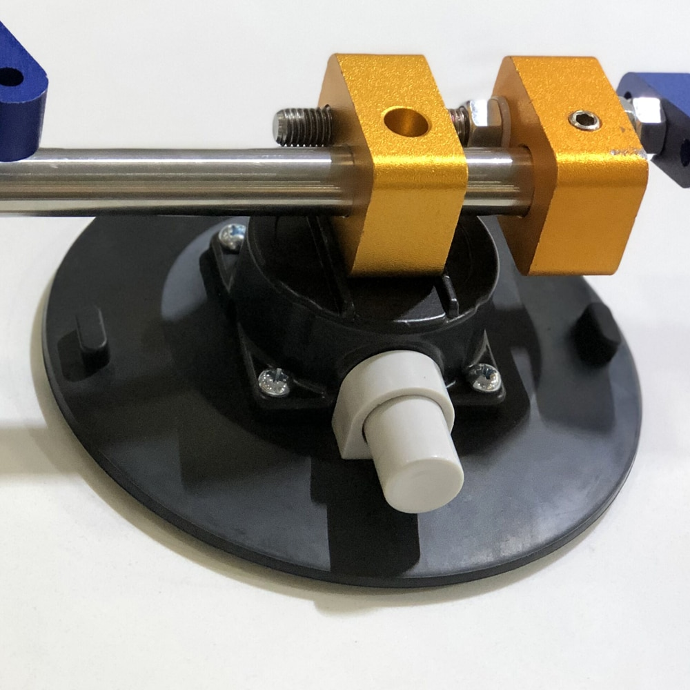 Купить с кэшбэком Raizi 6 Inch Vacuum Suction Cups Mount Base with Two Gas Pump M6 Thread Hand Vacuum Pump Glass Sucker